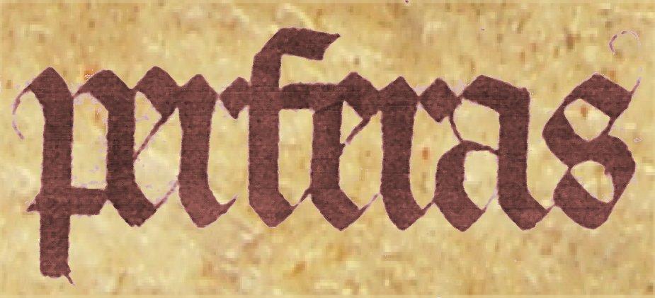 Gotisch schrift