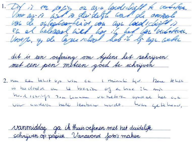 Handschriften ambtenaren Ministerie